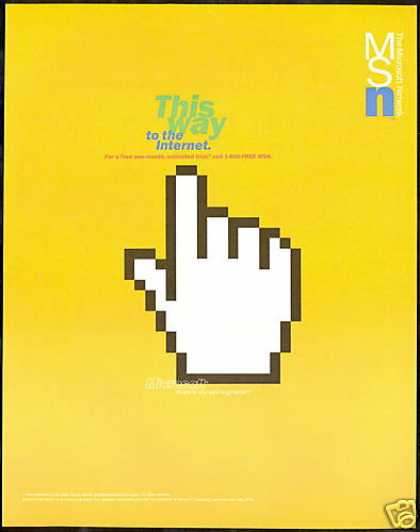 Microsoft Network MSN Internet This Way Hand (1996)