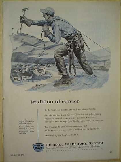 General Telephone System Tradition of Service (1955)