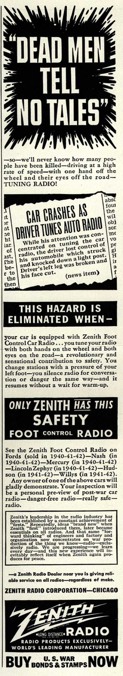 "Zenith Radio Corporation's Radio – ""Dead Men Tell No Tales"" (1943)"