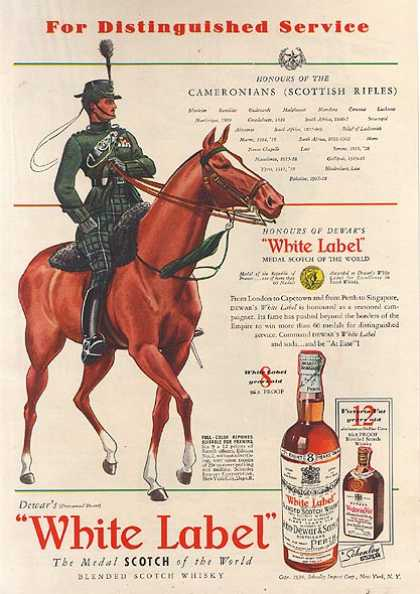 Dewar's Blended Scotch Whisky (1939)