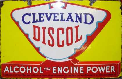 Cleveland Discol Petrol Sign