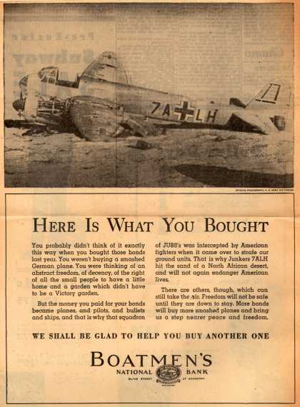 Boatmen's National Bank's War Bonds – Here Is What You Bought (1943)
