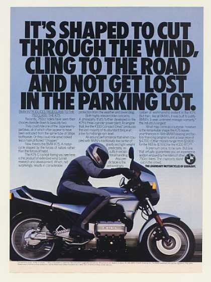 BMW K75 Motorcycle Shaped to Cut Through Wind (1986)