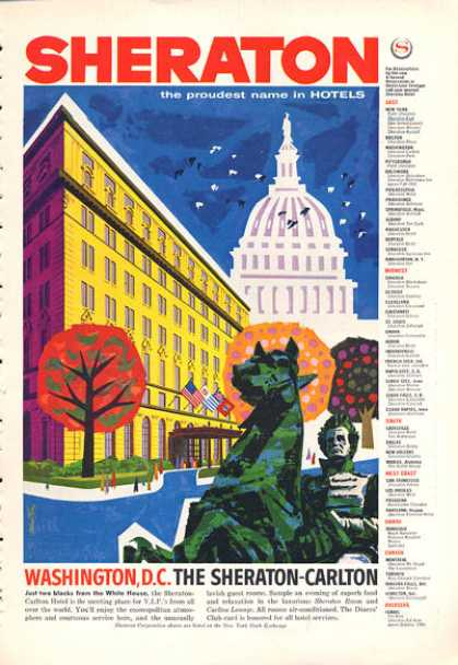 Washington Dc Sheraton Carlton Hotel Chan Art (1960)