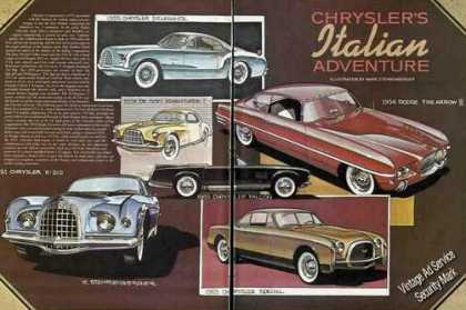 Print Feature 1950's Ghia Styled Chrysler Products (1980)