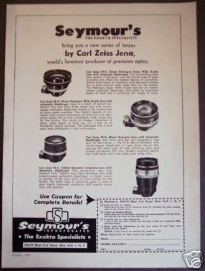 Original Carl Zeiss New Line Camera Lenses Lens (1961)