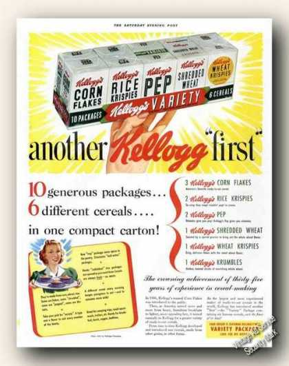 Kellogg's Variety Package Cereals (1941)