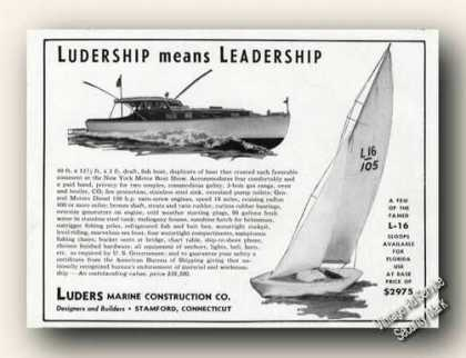 Luders Marine Construction Stamford Ct Ad Boat (1947)