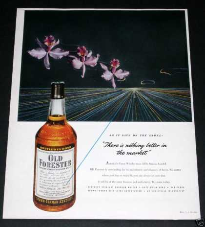Old Forester Whiskey Orchids (1951)