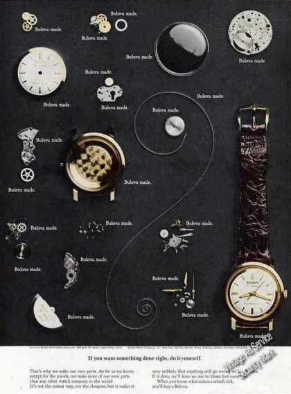 Bulova Commander Collection Unique Watch Parts (1967)