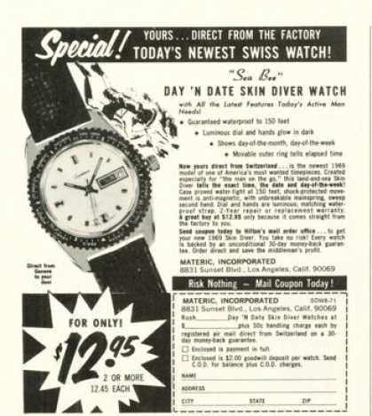 Materic Sea Boa Diving Watch (1971)