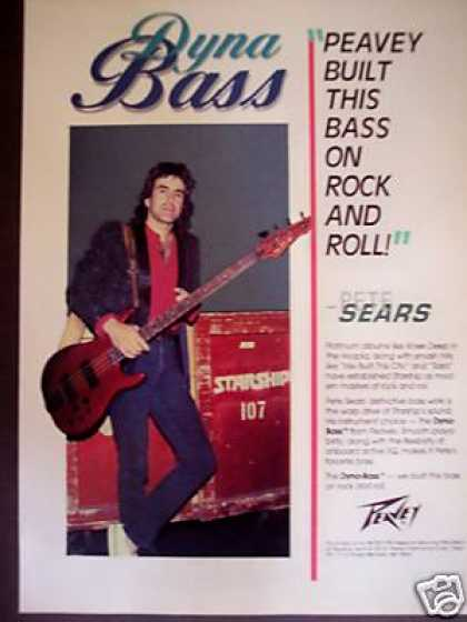Pete Sears of Starship Peavey Dyna Bass Guitar (1986)