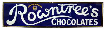 Rowntree&#8217;s Strip Sign
