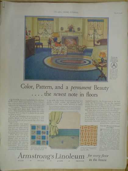 Armstrong's Linoleum. Color Pattern (1926)