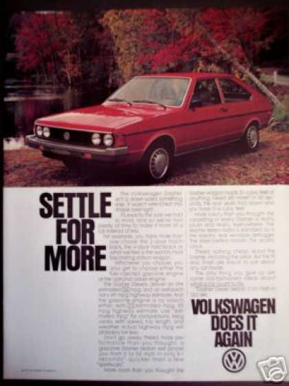 Red Volkswagen Dasher Car Photo (1980)