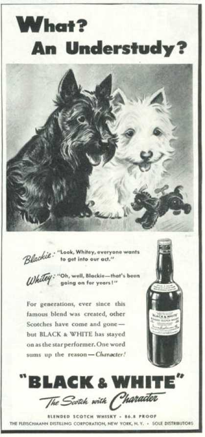 Black & White Scottish Ad What an Understudy? (1945)
