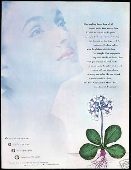 Pretty Woman Flower DeBeers De-Beers Diamonds (1947)