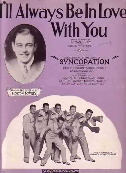 I'll Always Be In Love – You Movie Sheet Music – Morton Downey (1929)