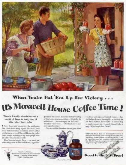 "Maxwell House ""Put 'em Up for Victory"" Coffee (1945)"