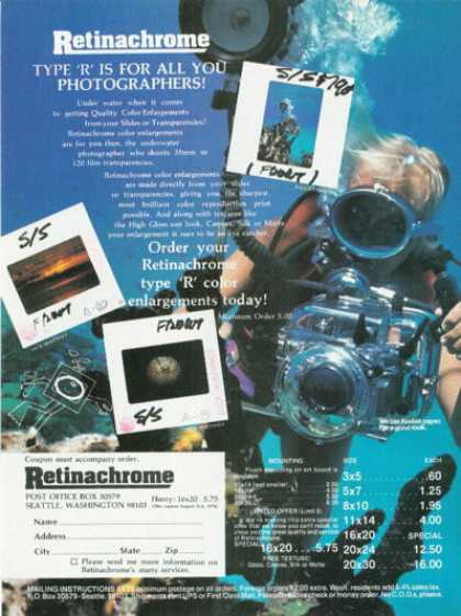 '78 Retinachrome Underwater Camera Housing Ad T (1978)
