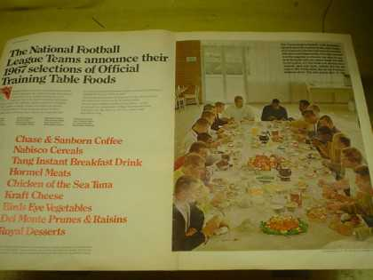 National Football League NFL training table foods and booklet (1967)