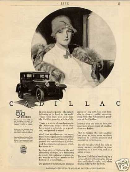 Cadillac Car Ad Barclay Art (1926)