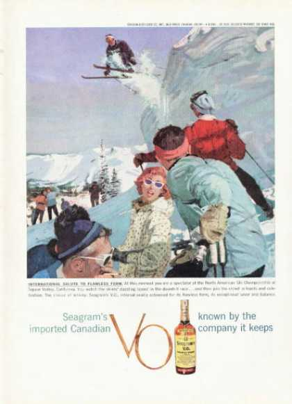 Seagrams Whisky Ad Snow Ski Squaw Valley Calif (1959)