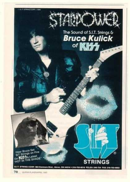 Bruce Kulick Photo KISS SIT Strings (1990)