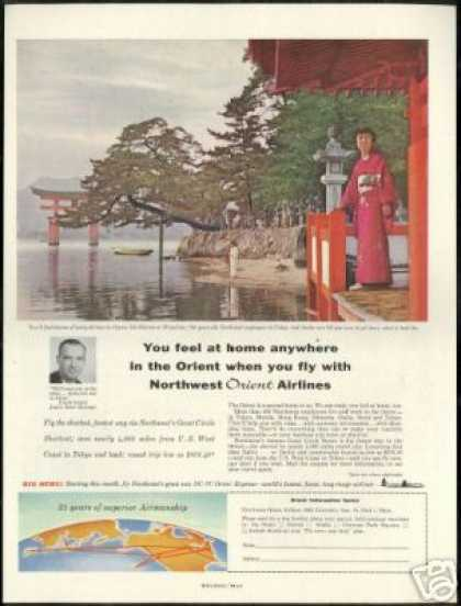 Miyajima Japan Photo Northwest Orient Airlines (1957)