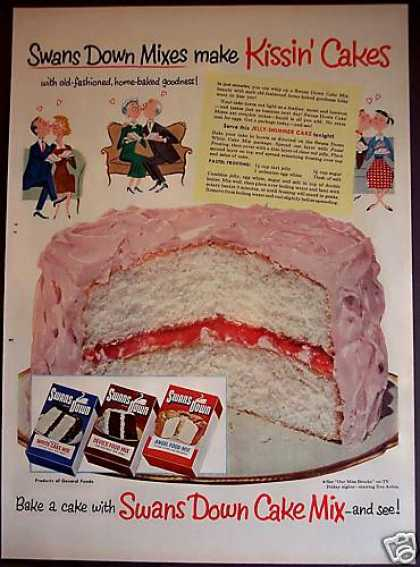 "Swans Down Cake Mix ""Kissin' Cakes"" (1953)"