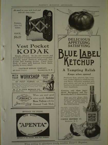 Blue Label Ketchup Curtice Brothers AND Kodak Vest Pocket Camera (1913)