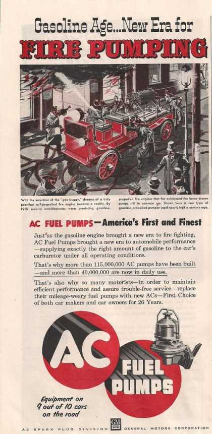 Ac Fuel Pumps Red Fire Engine (1953)