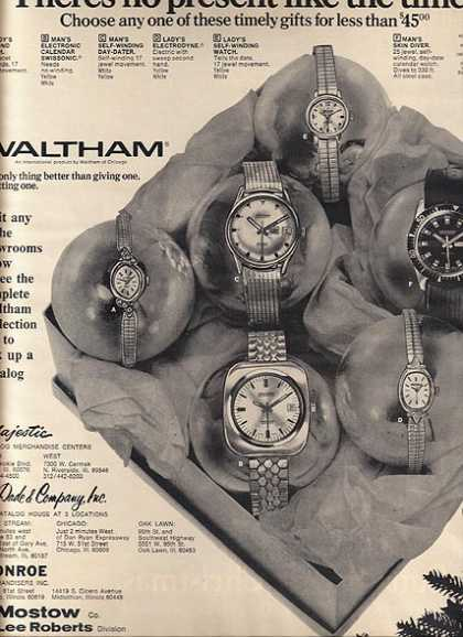 Waltham's Wristwatches (1968)