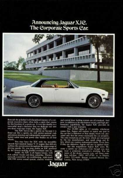 Jaguar XJC 2 Door Vinyl Top White Photo (1975)