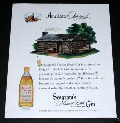Seagram's Ancient Bottle Gin (1948)