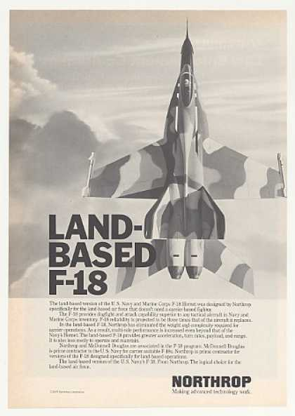 Northrop Land-Based F-18 Hornet Aircraft (1980)