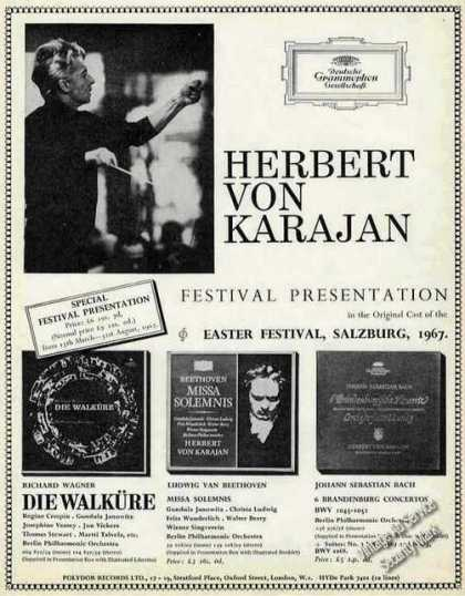 Herbert Von Karajan Polydor Records Uk (1967)
