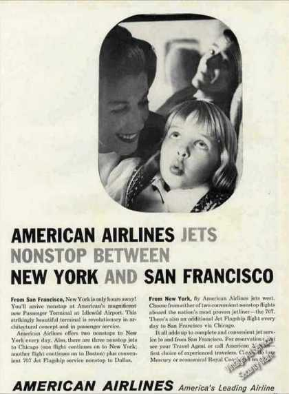 American Airlines Jets New York & San Francisco (1960)