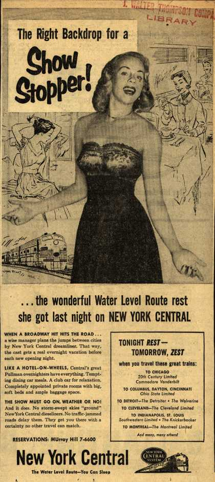 New York Central System – The Right Backdrop for a Show Stopper (1954)