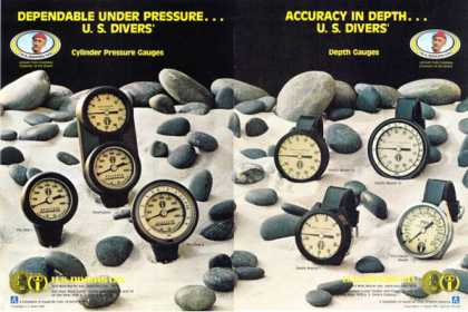 U.s.divers Depth Master Gauges (1978)