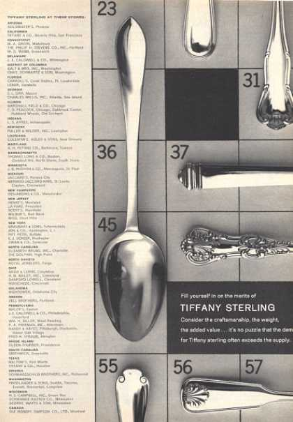 Tiffany Sterling Silver Dinnerware Spoon Photo (1964)