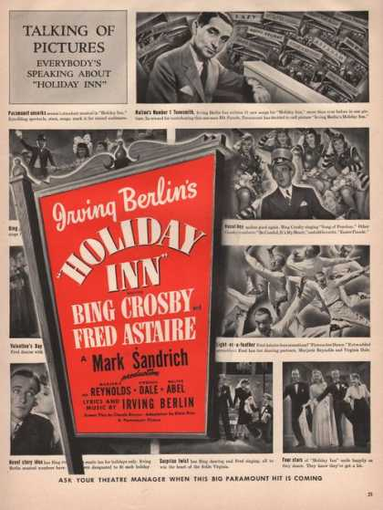 Movie With Bing Crosy & Fred Astaire Print (1942)