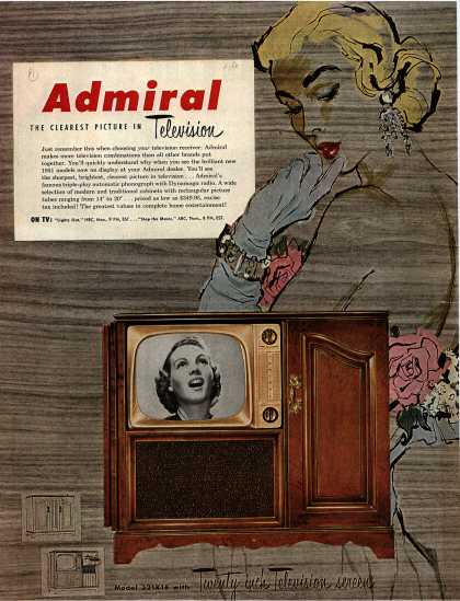 Admiral Corporation's Television – Admiral The Clearest Picture in Television (1951)