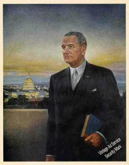 Lyndon B Johnson Art Nice Magazine Feature (1967)