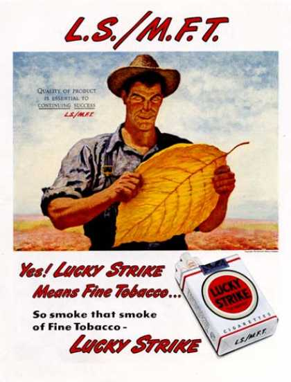 Lucky Strike Cigarettes #2 (1947)