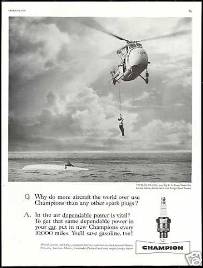 Sikorsky Helicopter Coast Guard Champion Plug (1958)