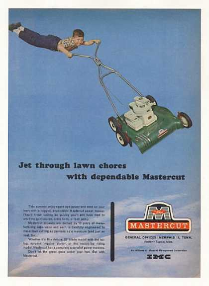 Mastercut Power Lawn Mower Jet Through Chores (1963)