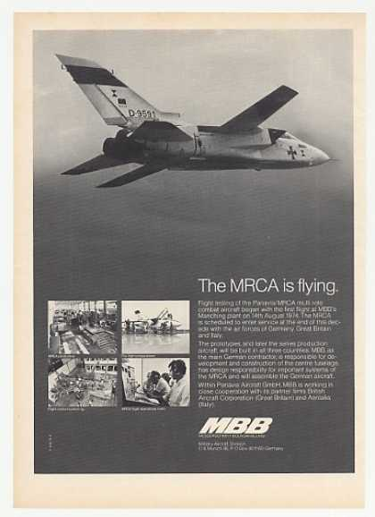 MBB Panavia MRCA Combat Aircraft Photo (1974)