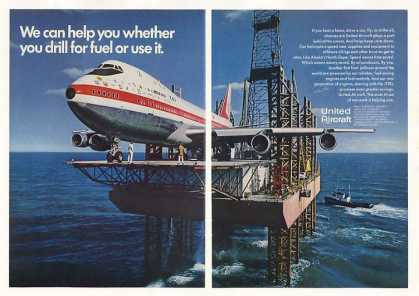 Boeing 747 Jet on Oil Well United Aircraft 2-Pg (1970)