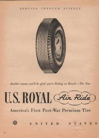 U S Royal Air Ride Car Tires (1946)